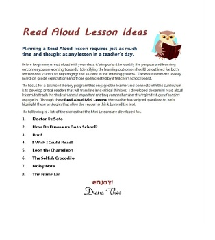 Using Read Alouds to Teach Reading Comprehension Strategies