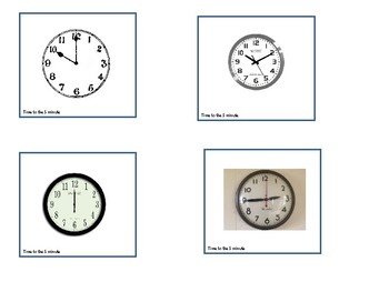 Using Real Clocks- Time to the 5 minute