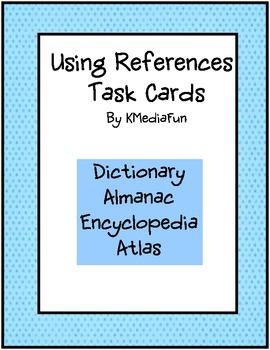 Using References Task Cards by KMediaFun