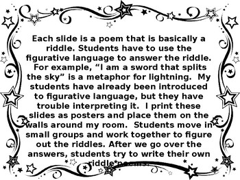 Using Riddle Poems to Interpret Figurative Language