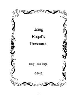 Using Roget's Thesaurus