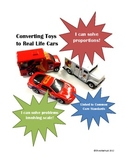 Using Scale and Solving Proportions ~Converting toys to real life cars