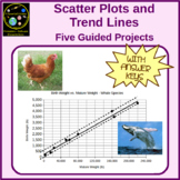 Scatter Plots and Trend Lines - 5 Guided Projects