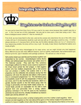Using Science to Understand King Henry VIII