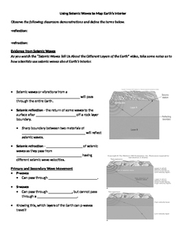 Using Seismic Waves to Map Earth's Interior worksheet