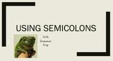 Using Semicolons Mini Lesson *Grammar in context *Make grammar fun again