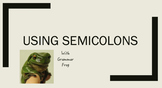Using Semicolons Mini Lesson *Grammar in context *Make gra