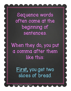 Using Sequence Words Minilesson and Activities (Gradual Release)