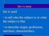 Using Ser and Estar