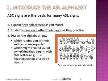 Using Sign Language in the Hearing Classroom: Powerpoint & Worksheet Bundle