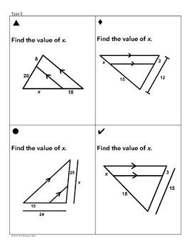 Triangle Similarity Sum Em Activity