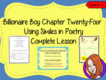 Using Similes in Poetry; Complete Lesson  – Billionaire Boy