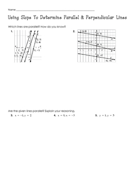 Using Slope to Identify Parallel & Perpendicular Lines Pra