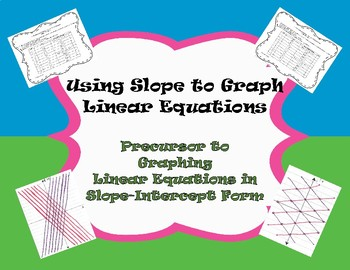 Using Slopes - Precursor to Graphing Linear Equations in Slope-Intercept Form