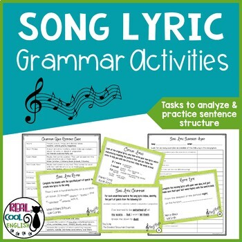 Song Lyric Analysis for Grammar and Sentence Structure