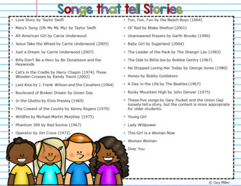 Using Songs to Teach Text Structures