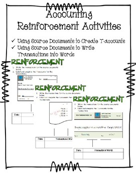 Using Source Documents to Complete Transactions
