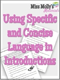 Using Specific and Concise Language in Introductions - No
