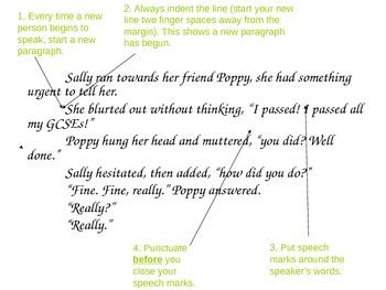 Using Speech Marks