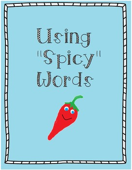 "Using ""Spicy Words"" Thesaurus Activity"