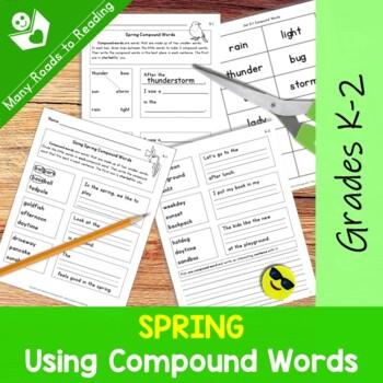 Spring Compound Words Grades 1-2