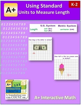 Using Standard Units to Measure Length (lesson and a worksheet)