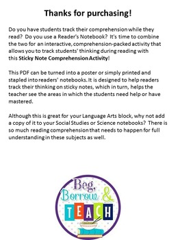 Using Sticky Notes to Increase Reading Comprehension