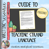 Using Strand Language (Diction Strands) to Take Writing to