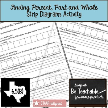 Using Strip Diagrams: Find Percentage, Part, and Whole Amounts (6.5B)