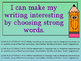 Writing Process : Using Strong Nouns, Verbs, & Specific Thoughts in Writing