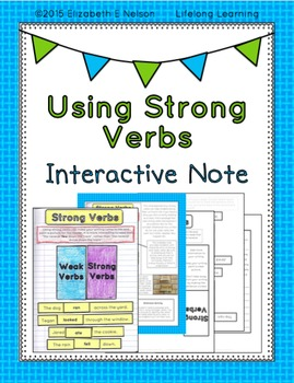 Using Strong Verbs: Descriptive Writing Interactive Note