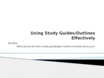 Using Study Guides Effectively Power Point