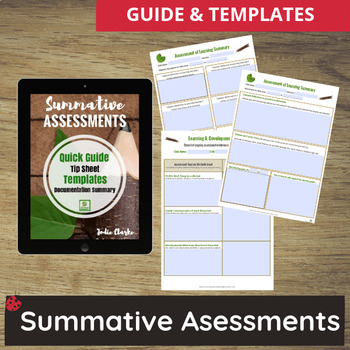 Summative Assessments with Learning Outcomes - for Childcare, PreK, Preschool