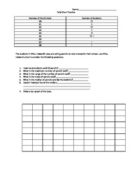 Using Tally Charts Practice