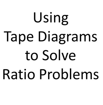 Using Tape Diagrams to Solve Ratio Problems PowerPoint