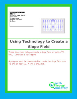 Using Technology to Create a Slope Field