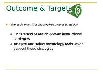 Using Technology to Enhance Instruction
