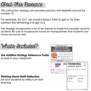 Using Ten: A Mental Math Subtraction Strategy Unit