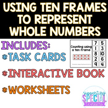 Using Ten Frames to represent and compare whole numbers