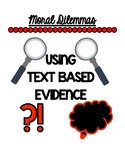 Text Based Evidence and RACE Responses Using Moral Dilemmas