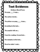 Text Evidence Printable Sheets and Guides - Character Trai