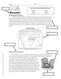 Using Text Features Worksheet - Deserts