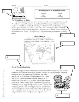 Text Features Worksheet | Teachers Pay Teachers