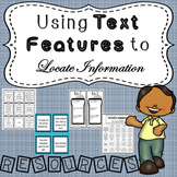 Using Text Features to Locate Information - Resource Packet