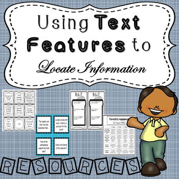 Using Text Features to Locate Information - TEKS (BUNDLE)
