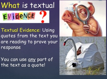 Textual Evidence PPT And Group Activity