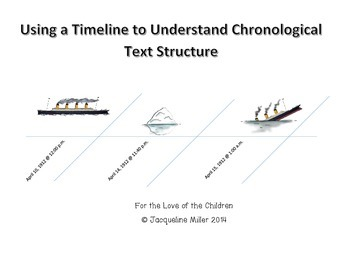 Using The Titanic to Teach Chronological Text Structure