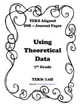 Using Theoretical Data INB TEKS 7.6D