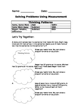 Using Thinking Patterns to Solve Measurement Problems