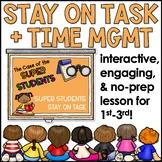 Staying on Task Lesson Plan